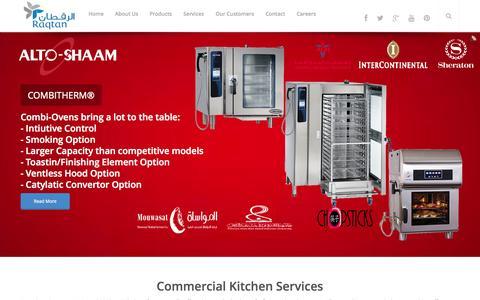 Screenshot of Home Page raqtan.com - Raqtan Food Service Commercial Equipments - captured Sept. 23, 2014