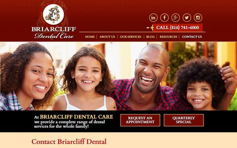 Screenshot of Contact Page briarcliffdentalcare.com - Address, Phone Number, Fax | Briarcliff Dental Care - captured Aug. 3, 2018