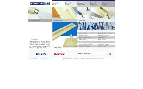 Screenshot of Home Page concordtools.com - Concordtools - captured Sept. 30, 2014