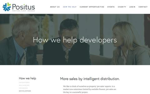 Screenshot of Developers Page positus.com.au - Developers — Positus - captured Dec. 10, 2015