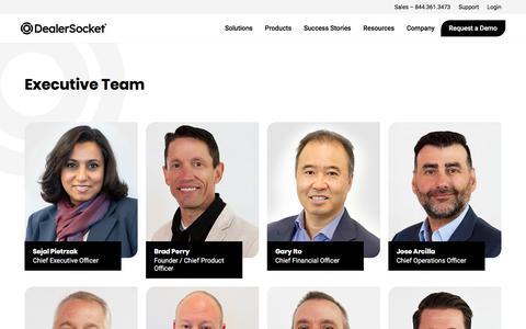 Screenshot of Team Page dealersocket.com - Meet the Team   Dealer Socket - captured Dec. 16, 2019