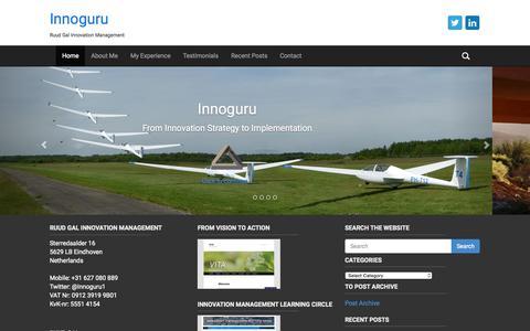 Screenshot of Home Page innoguru.nl - Home - Innoguru - captured Aug. 12, 2015