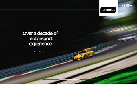 Screenshot of Home Page torquetogether.com - Torque Motorsport - captured Nov. 16, 2018