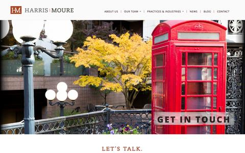 Screenshot of Contact Page harrismoure.com - Harris Moure | Law Offices in Seattle, Chicago, Bejing and Qingdao - captured Dec. 7, 2015