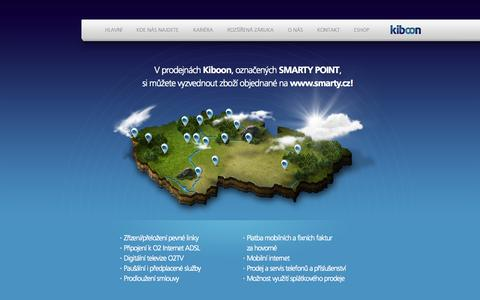 Screenshot of Home Page kiboon.cz - Kiboon - captured Oct. 6, 2014