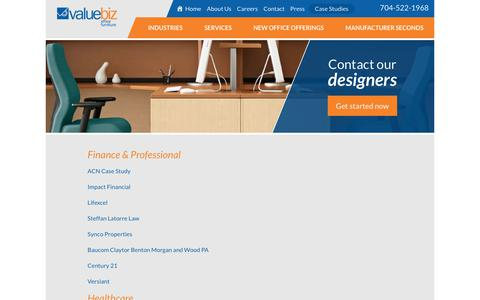 Screenshot of Case Studies Page valuebiz.com - Case Studies - captured Oct. 18, 2018