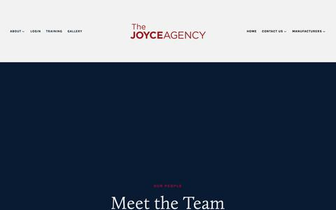Screenshot of Team Page thejoyceagency.com - Our People — The Joyce Agency - captured Oct. 18, 2018