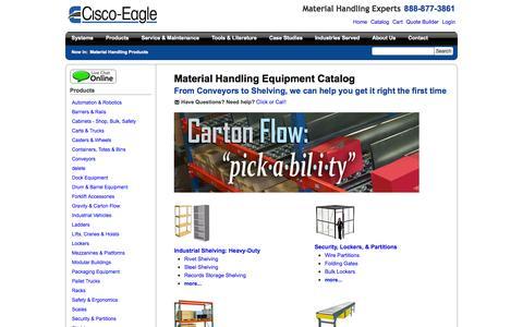 Screenshot of Products Page cisco-eagle.com - Cisco-Eagle Catalog - captured Sept. 19, 2014