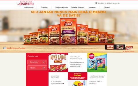 Screenshot of Home Page ajinomoto.com.br - Ajinomoto do Brasil - captured Feb. 5, 2016