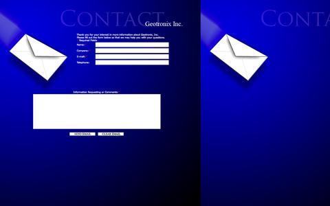 Screenshot of Contact Page geotronix.com - Geotronix Inc - captured Oct. 1, 2014