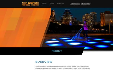 Screenshot of About Page surgept.com - About | Surge Performance Training - captured Sept. 11, 2014