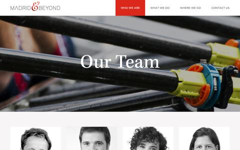 Screenshot of Team Page madridandbeyond.com - Madrid&Beyond | Meet our luxury travel agents in Spain and the US - captured June 24, 2019