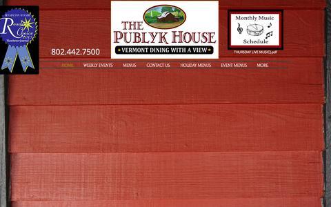 Screenshot of Home Page thepublykhouse.com - thepublykhouse - captured Feb. 28, 2016