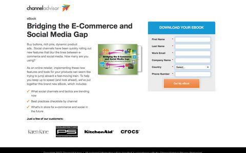 Screenshot of Landing Page channeladvisor.com - Bridging the E-Commerce and Social Media Gap | ChannelAdvisor - captured March 15, 2017