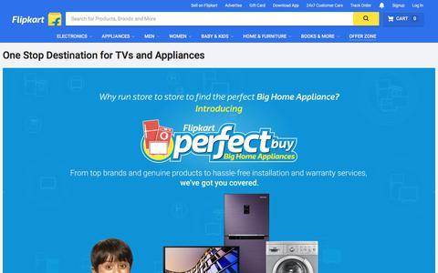 Screenshot of flipkart.com - Perfect Buy Store for Big Home Appliances Online in India | Flipkart.com - captured Aug. 8, 2017
