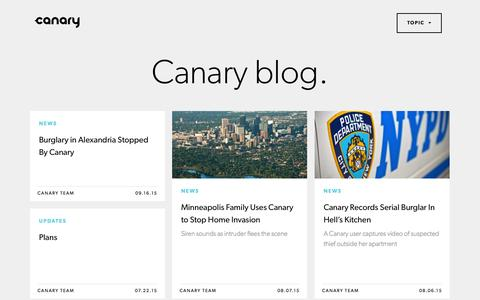 Screenshot of Blog canary.is - The Canary Blog | The world's first smart home security device for everyone. - captured Oct. 1, 2015