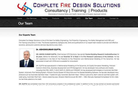 Screenshot of Team Page cfdsolution.com - Meet our expert Team to Provide you the Best, Engineering and Cost Effective wide range of Solutions - captured Oct. 2, 2014