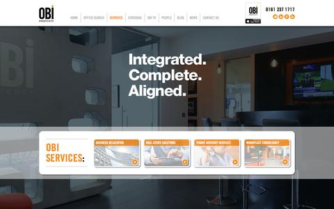Screenshot of Services Page obiproperty.co.uk - OBI PROPERTY Ltd – SERVICES - captured Oct. 7, 2014