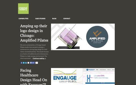 Screenshot of Case Studies Page ceedcreative.com - Case Studies - CEED Creative : Brand Strategy & Design - captured Sept. 26, 2014