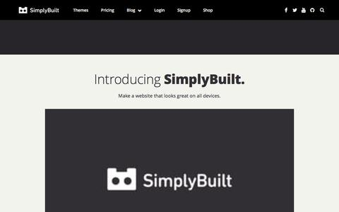 Screenshot of Signup Page simplybuilt.com - SimplyBuilt: Domains, DIY Website Builder, and Hosting all in one place. | How to create a website - captured Feb. 22, 2016