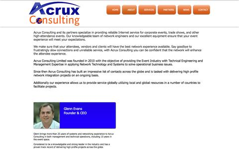 Screenshot of About Page acruxconsulting.com - Acrux Consulting Limited | ABOUT - captured May 29, 2017