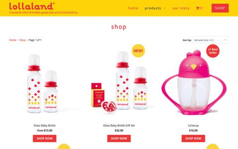 Screenshot of Products Page lollaland.com - Shop - lollaland - captured Feb. 1, 2016