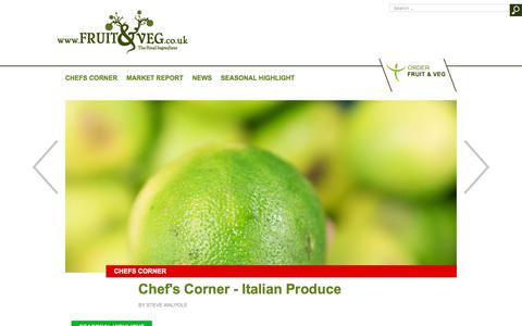 Screenshot of Blog fruitandveg.co.uk - Fruit & Veg Blog - Consultant Chef Steve Walpole and popular food writer, Tom Moggach, share their recipes, love of food and an insider's guide to the UK's formidable Chef scene. - captured Oct. 14, 2017