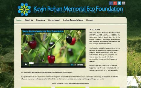Screenshot of Home Page krmef.org - KRMEF - Home - captured Oct. 6, 2014