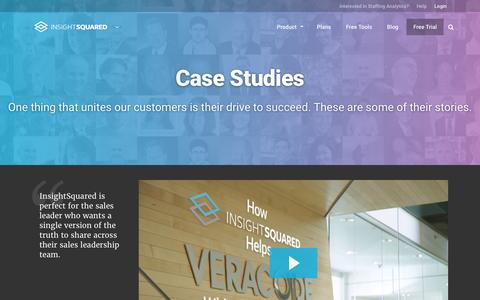 Screenshot of Case Studies Page insightsquared.com - Case Studies and Testimonials for InsightSquared - captured Aug. 31, 2016
