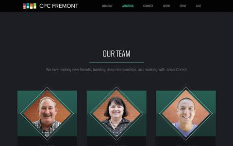 Screenshot of Team Page cpcfremont.org - CPC Fremont | Our Team - captured Oct. 30, 2016