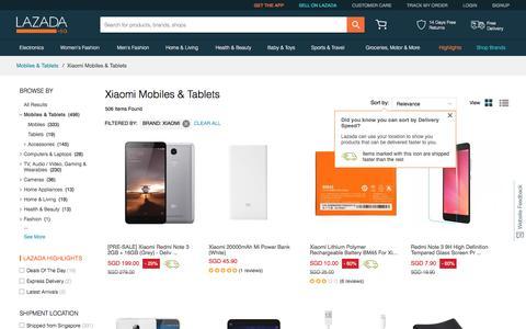 Mi Singapore - Buy Xiaomi Phone & Tablet At Best Price | Lazada