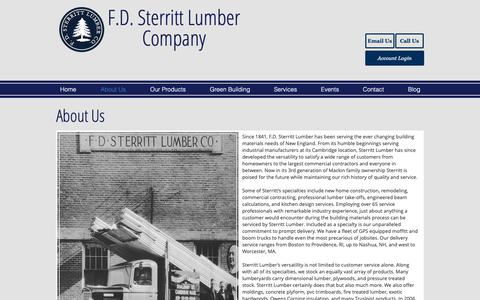 Screenshot of About Page sterrittlumber.com - About Us | sterrittlumber - captured March 22, 2019