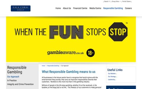 Screenshot of galacoral.co.uk - What Responsible Gambling means to us – Gala Coral - captured March 20, 2016