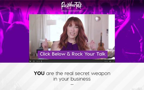 Screenshot of Home Page rockyourtalk.com - Rock Your Talk - captured May 8, 2017