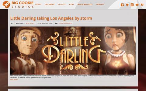 Screenshot of Press Page bigcookiestudios.com - Big Cookie Studios     News - captured Jan. 2, 2016