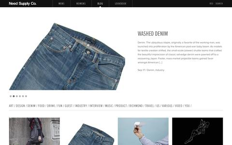 Screenshot of Blog needsupply.com - Blog / Need Supply Co. - captured Sept. 18, 2014