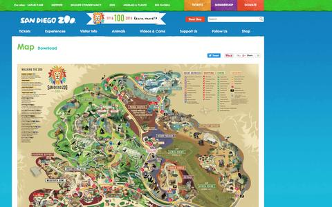 Screenshot of Maps & Directions Page sandiegozoo.org - Map | San Diego Zoo - captured Nov. 19, 2016
