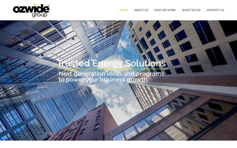 Screenshot of Home Page ozwidegroup.com.au - Home - Ozwide Group - captured Dec. 6, 2016