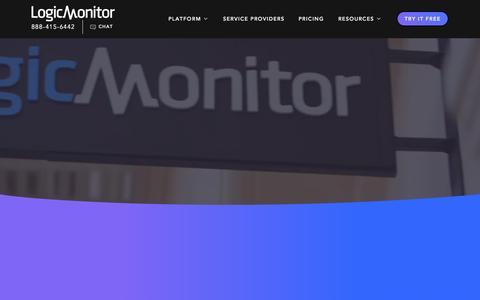 Screenshot of Home Page logicmonitor.com - LogicMonitor: SaaS-based Performance Monitoring Platform - captured Oct. 1, 2015