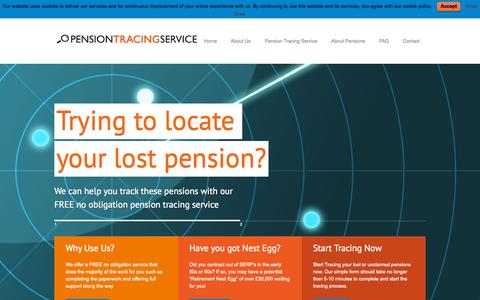 Screenshot of Home Page pension-tracing-service-uk.co.uk - Pension Tracing Service | FREE Tracing, Pension Review & SERPS Pension | Pension Tracing Service | Find Lost Pensions | Free Pension Review - captured Sept. 10, 2015