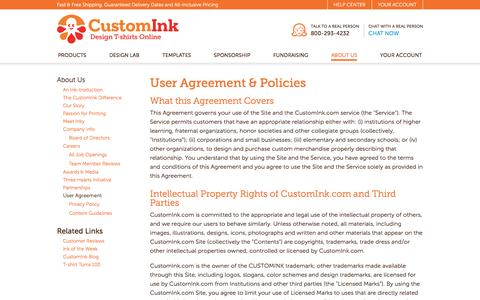 User Agreement | About CustomInk