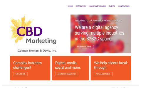 Screenshot of Home Page cbdmarketing.com - Marketing Agencies Chicago | CBD Marketing | CBD Marketing - captured Dec. 5, 2019