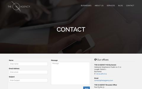 Screenshot of Contact Page theqagency.com - Contact THE Q AGENCY - captured Oct. 23, 2017