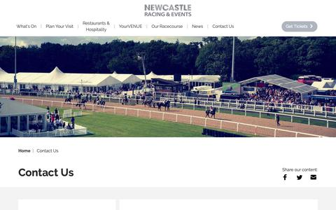 Screenshot of Contact Page newcastle-racecourse.co.uk - Contact Us | Newcastle Racecourse - captured Oct. 20, 2018