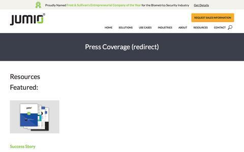 Press Coverage (redirect) - Jumio