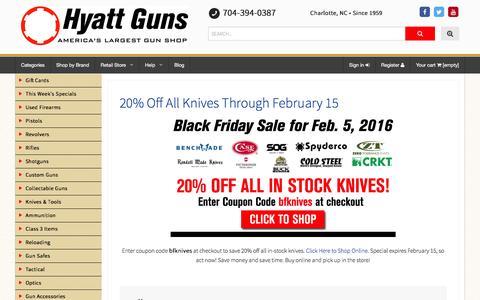 Screenshot of Blog hyattgunstore.com - Hyatt Guns - America's Largest Gun Shop - captured Feb. 8, 2016
