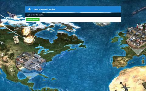 Screenshot of Maps & Directions Page worldwaronline.com - Map of World War Online - captured Oct. 1, 2015