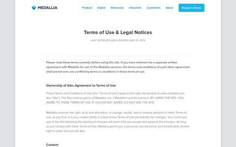 Terms of Use & Legal Notices - Medallia