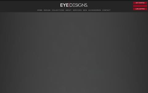 Screenshot of Services Page eyedesigns.com - EYE DESIGNS - captured Oct. 3, 2014