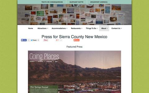 Screenshot of Press Page sierracountynewmexico.info - Press for Sierra County New Mexico - Sierra County Press - captured Oct. 7, 2014